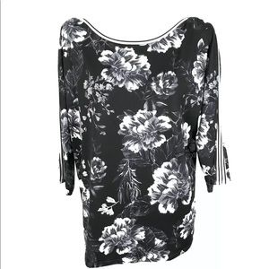 TRIBAL BRAND FLORAL WOMENS TOP SHIRT Blouse NWT
